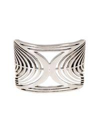 Lucky Brand - Metallic Open Work Cuff Bracelet - Lyst