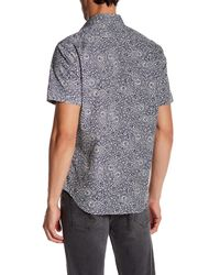 JEFF - Blue Milo Paisley Short Sleeve Tailored Fit Shirt for Men - Lyst