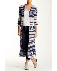 Billabong - Blue 'stripes Over You' Cardigan - Lyst