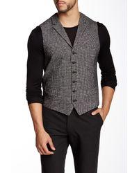John Varvatos | Black Vintage Style Vest for Men | Lyst