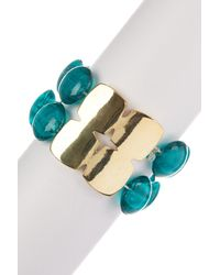 Kenneth Cole - Blue Teal Morano Stretch Bracelet - Lyst