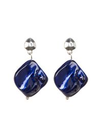 Kenneth Cole - Blue Free Form Drop Earrings - Lyst
