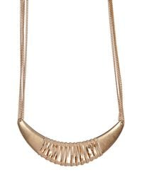 Kenneth Cole | Metallic Cutout Frontal Necklace | Lyst