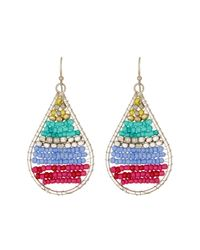 Kenneth Cole | Multicolor Beaded Teardrop Drop Earrings | Lyst