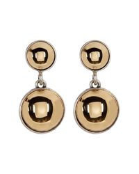 Kenneth Cole | Multicolor Two-tone Double Dome Drop Earrings | Lyst