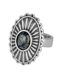 King Baby Studio - Metallic Sterling Silver Spotted Turquoise Starburst Concho Ring - Lyst