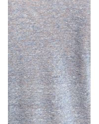 John Varvatos   Blue Melange Stripe Burnout Linen T-shirt for Men   Lyst