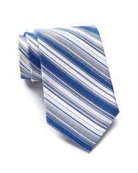 Calvin Klein - Blue Crystal Stripe Tie for Men - Lyst