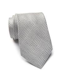 Calvin Klein   Gray Suiting Plaid Tie for Men   Lyst