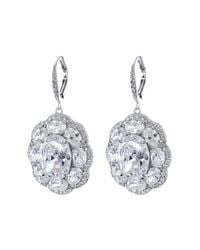 CZ by Kenneth Jay Lane - Metallic Cz Accented Tiered Halo Earrings - Lyst