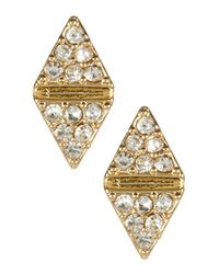 Cara - Multicolor Crystal Triangle Earrings Set - Lyst