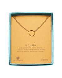 Dogeared - Metallic 14k Gold Plated Sterling Silver Karma Double Chain Necklace - Lyst