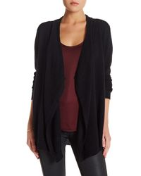 Velvet By Graham & Spencer | Black Open Front Cashmere Cardigan | Lyst