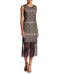 Kensie | Black Lace Maxi Dress | Lyst
