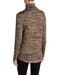 Kensie - Natural Space Dye Turtleneck - Lyst