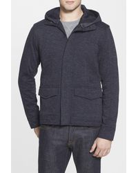 Kane & Unke | Blue Marled Zip Jacket for Men | Lyst
