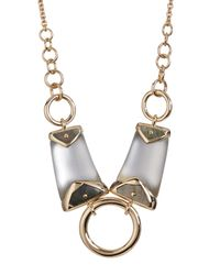 Alexis Bittar - Gray Lucite Center Ring Bib Necklace - Lyst