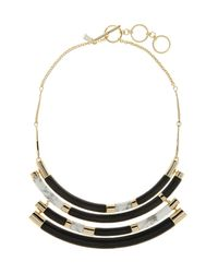Alexis Bittar - Gray Lucite Colorblocked Crescent Necklace - Lyst