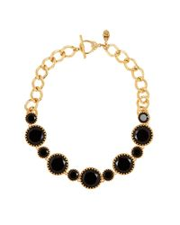 Lauren by Ralph Lauren | Metallic Stone Bib Necklace | Lyst