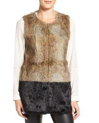 Love Token | Brown Genuine Rabbit Fur Vest | Lyst