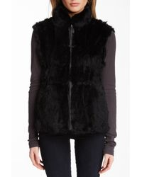 Love Token - Black Eris Reversible Genuine Rabbit Fur Vest - Lyst