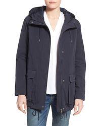 Levi's   Blue Hooded Swing Jacket   Lyst