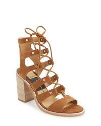 Dolce Vita | Brown 'lyndon' Lace-up Sandal (women) | Lyst