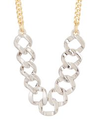 Marc By Marc Jacobs | Metallic Katie Frontal Link Necklace | Lyst