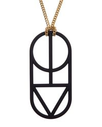 Marc By Marc Jacobs - Black Man Power Pendant Necklace - Lyst