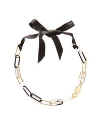 Marc By Marc Jacobs - Black Bubble Chain Statement Necklace - Lyst