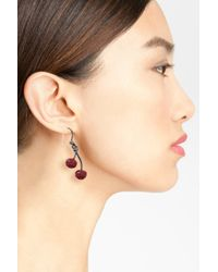 Marc By Marc Jacobs | Multicolor Pave Cherry Earrings | Lyst