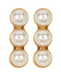 Marc Jacobs - Metallic Faux Pearl Dot Earrings - Lyst