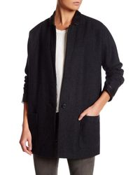 Muubaa - Blue Oversized Wool Blend Blazer - Lyst