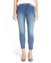 NYDJ - Blue Adaleine Stretch Zip Ankle Skinny Jean - Lyst
