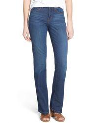 NYDJ | Blue Marilyn Stretch Straight Leg Jeans | Lyst