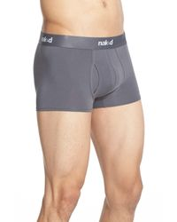 Naked | Gray Essential Stretch Cotton Trunks - 2-pack for Men | Lyst