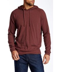 Vince - Red Pullover Raglan Hoodie for Men - Lyst