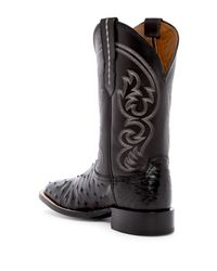 Lucchese - Black Genuine Ostrich Cowboy Boot for Men - Lyst