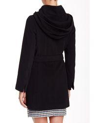 Cinzia Rocca - Black Belted Wool Blend Short Coat - Lyst