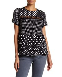 Marc By Marc Jacobs | Black Dot Print Ruffled Lace Blouse | Lyst