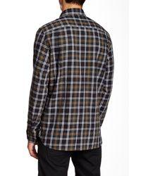 Victorinox - Villamont Long Sleeve Black Tailored Fit Shirt for Men - Lyst