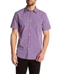 Ben Sherman - Purple Mini-check Short Sleeve Slim Fit Shirt for Men - Lyst