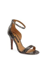 Kay Unger - Black 'mandie' Ankle Strap Sandal (women) - Lyst