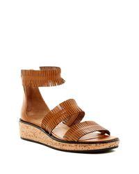 Bettye Muller | Brown Marquee Fringe Platform Sandal | Lyst