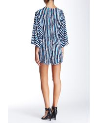 Lucy Love | Blue Front Keyhole Print Romper | Lyst