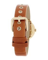Marc Jacobs - Brown Women's Mini Amy Leather Strap Watch - Lyst