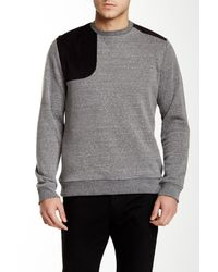 Civil Society | Gray Richmond Corduroy Contrast Pullover for Men | Lyst