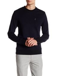 Ben Sherman - Black Tonic Pique Sweater for Men - Lyst