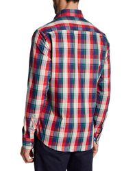 Stone Rose - Blue Plaid Shirt for Men - Lyst
