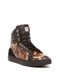 MCM | Black Sophisticated High Top Sneaker | Lyst
